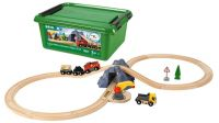 BRIO Bahn Acht Tunnel Set m. Batterielok